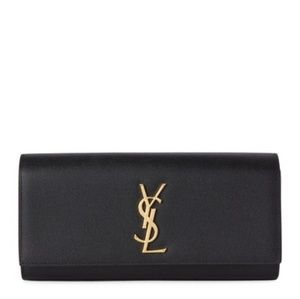 YSL Cassandre black clutch